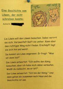 eine geschichte vom löwen, der nicht schreiben konnte | grundschule döhrnstraße